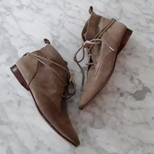 Elizabeth & James E-Camo Lace Around Suede Boot